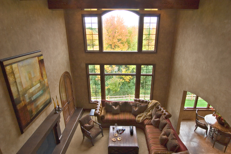 Prairie Style Floor Plan Family Room Photo 04 013S-0009