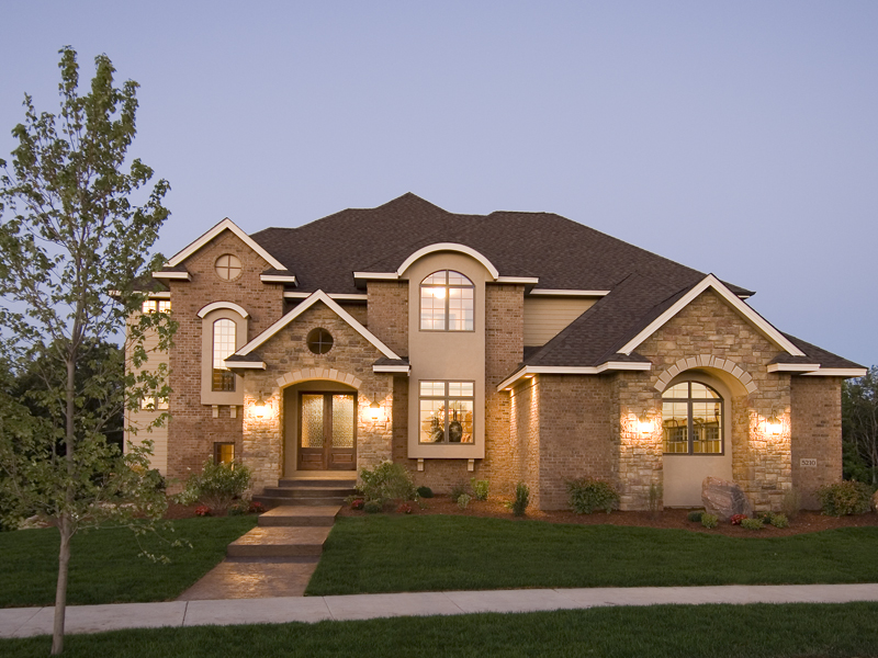 Prairie Style Floor Plan Front of Home 013S-0009