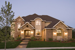 Prairie Style Floor Plan Front of Home - 013S-0009 | House Plans and More