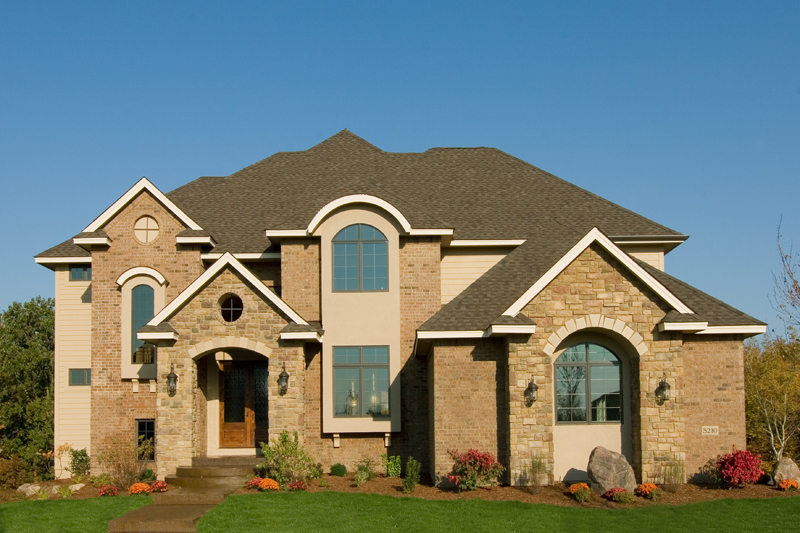 Prairie Style Floor Plan Front Photo 01 013S-0009