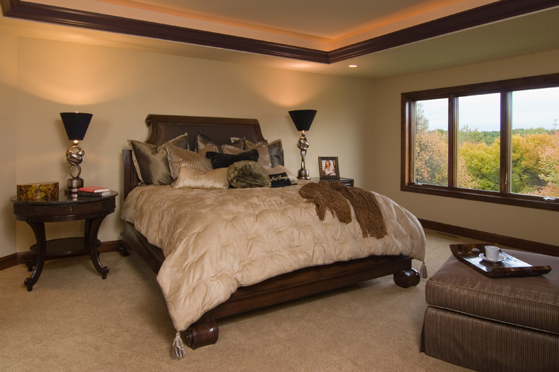 Prairie Style Floor Plan Master Bedroom Photo 01 - 013S-0009 | House Plans and More