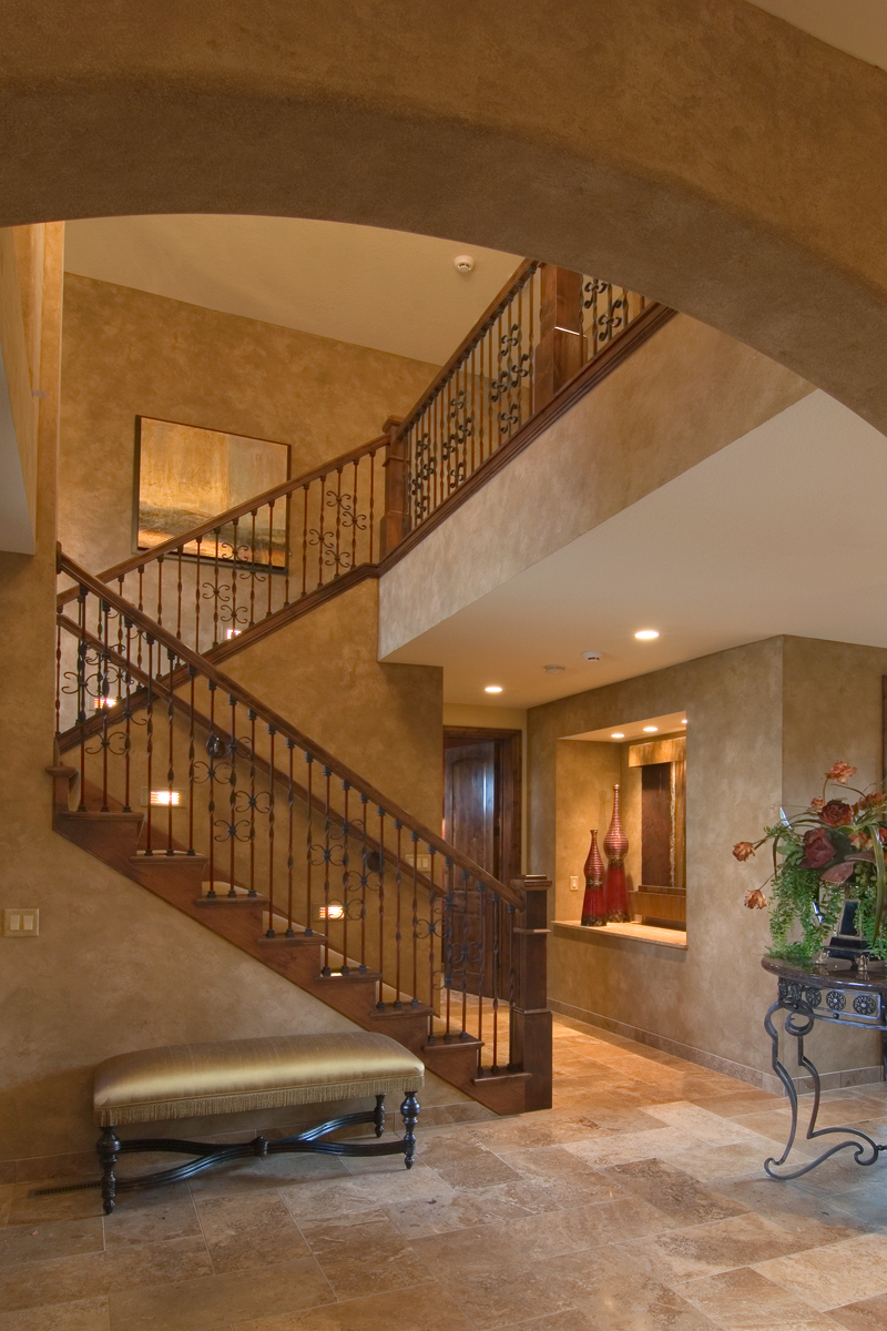 Prairie Style Floor Plan Stairs Photo 013S-0009