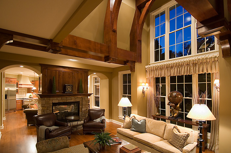 Prairie Style Floor Plan Family Room Photo 02 013S-0010