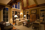 Prairie Style Floor Plan Family Room Photo 03 - 013S-0010 | House Plans and More