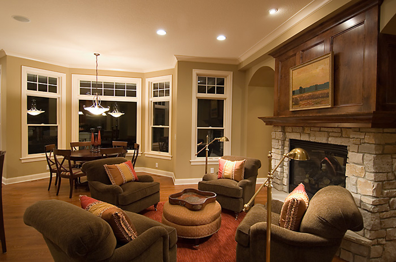 Prairie Style Floor Plan Fireplace Photo 01 013S-0010