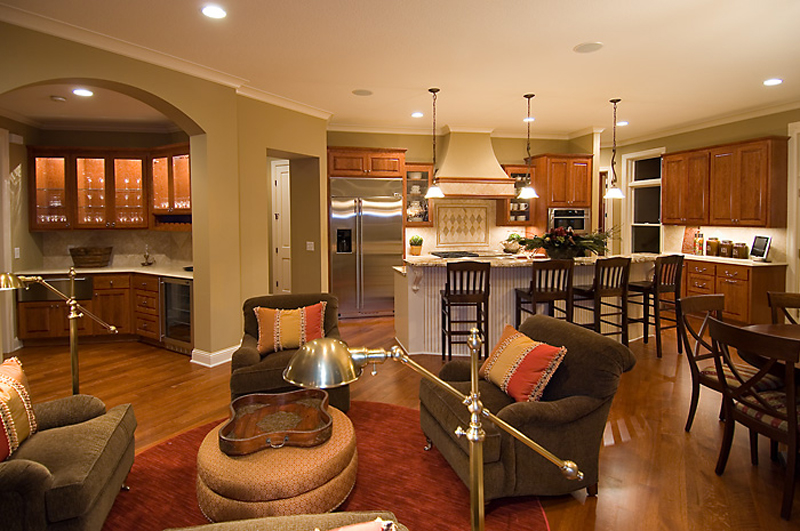 Prairie Style Floor Plan Kitchen Photo 03 013S-0010