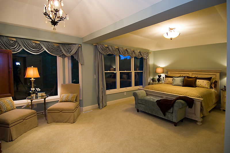 Prairie Style Floor Plan Master Bedroom Photo 01 013S-0010