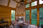 Prairie Style Floor Plan Screened Porch Photo 01 - 013S-0010 | House Plans and More