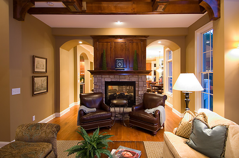 Prairie Style Floor Plan Sitting Area Photo 013S-0010