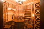 Prairie Style Floor Plan Wine Cellar Photo - 013S-0010 | House Plans and More