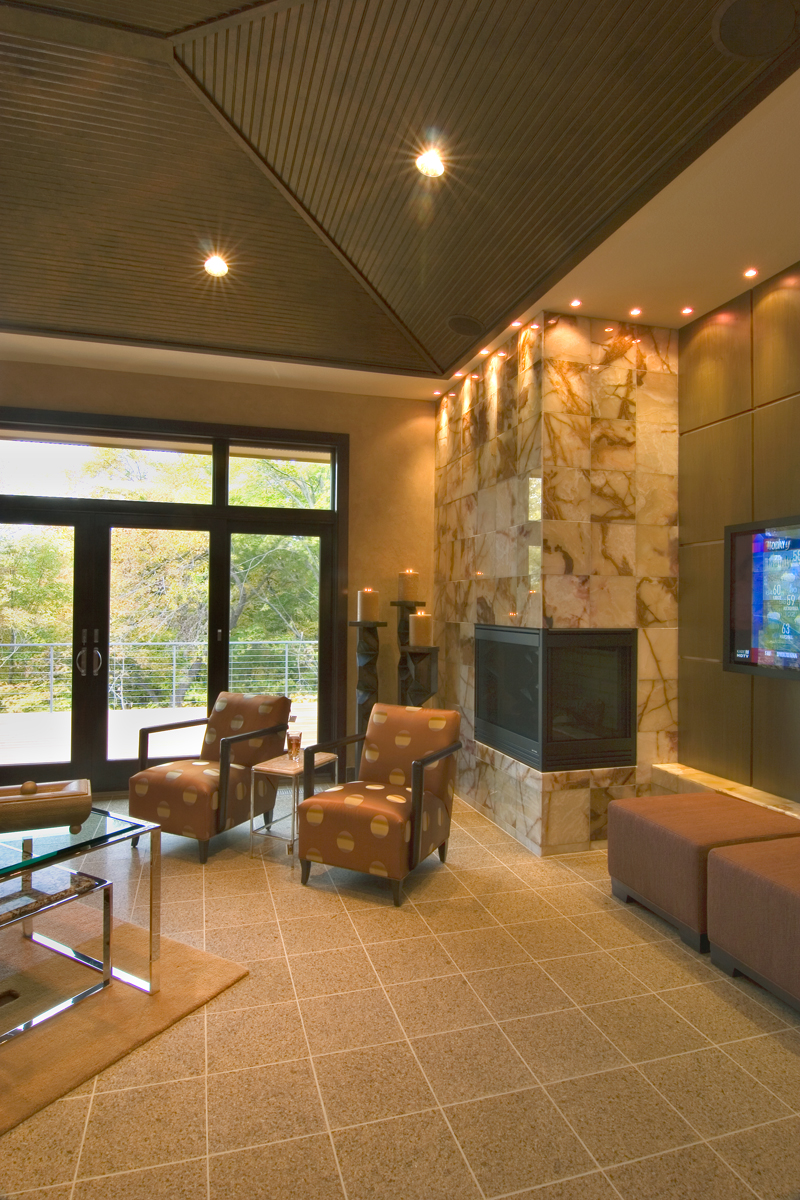 Prairie Style Floor Plan Sitting Area Photo 013S-0011
