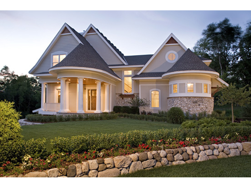 Arts and Crafts House Plan Front of Home 013S-0013