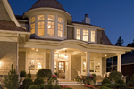 Victorian House Plan Front Night Photo 03 - 013S-0014 | House Plans and More