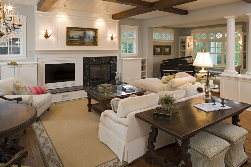 Prairie Style Floor Plan Living Room Photo 01 013S-0014