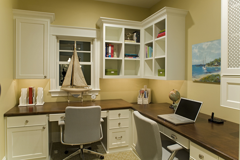 Prairie Style Floor Plan Office Photo 013S-0014