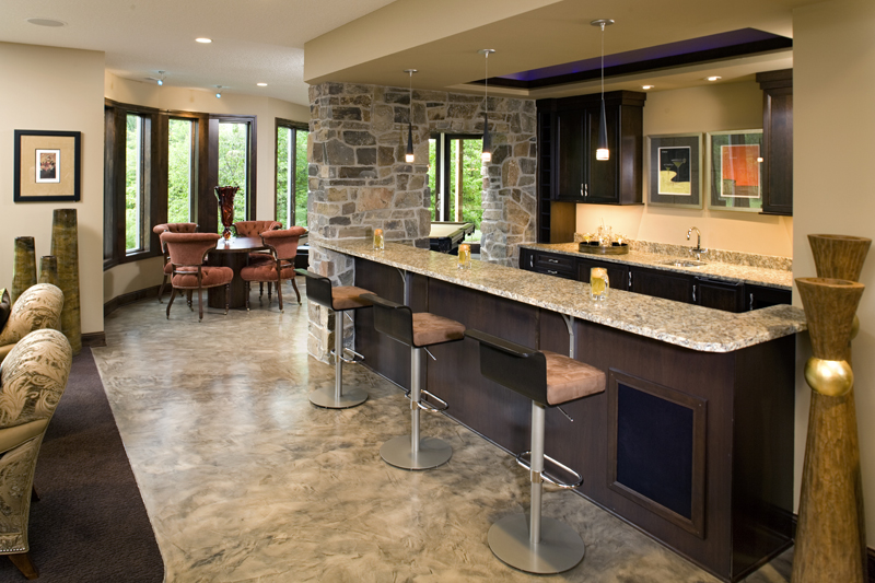 Prairie Style Floor Plan Bar Photo 02 013S-0015