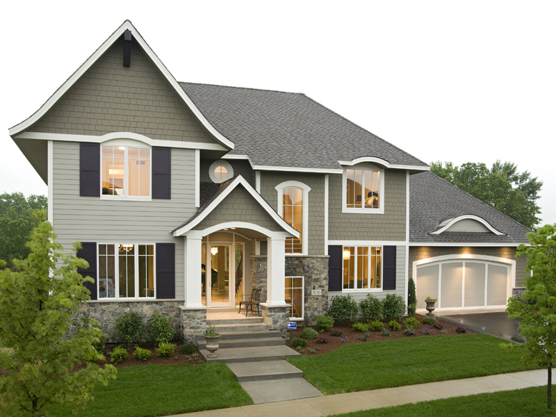 Prairie Style Floor Plan Front of Home 013S-0015