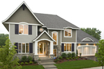 Prairie Style Floor Plan Front of Home - 013S-0015 | House Plans and More