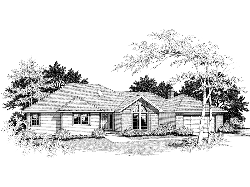 Ranch House Plan Front Image of House - 014D-0001 | House Plans and More