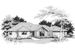 Traditional House Plan Front Image of House - 014D-0001 | House Plans and More