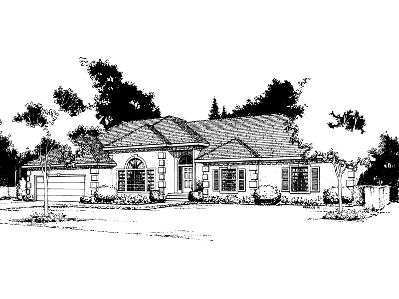 Florida House Plan Front Image of House - 014D-0002 | House Plans and More