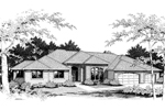 Modern House Plan Front Image of House - 014D-0003 | House Plans and More