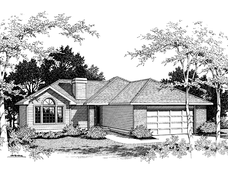 Traditional House Plan Front Image of House - 014D-0004 | House Plans and More