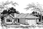 Ranch House Plan Front Image of House - 014D-0004 | House Plans and More