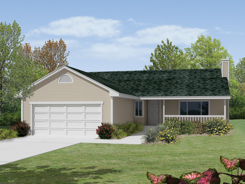 Ranch House Plan Front of Home 014D-0005