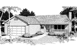 Ranch House Plan Front Image of House - 014D-0005 | House Plans and More
