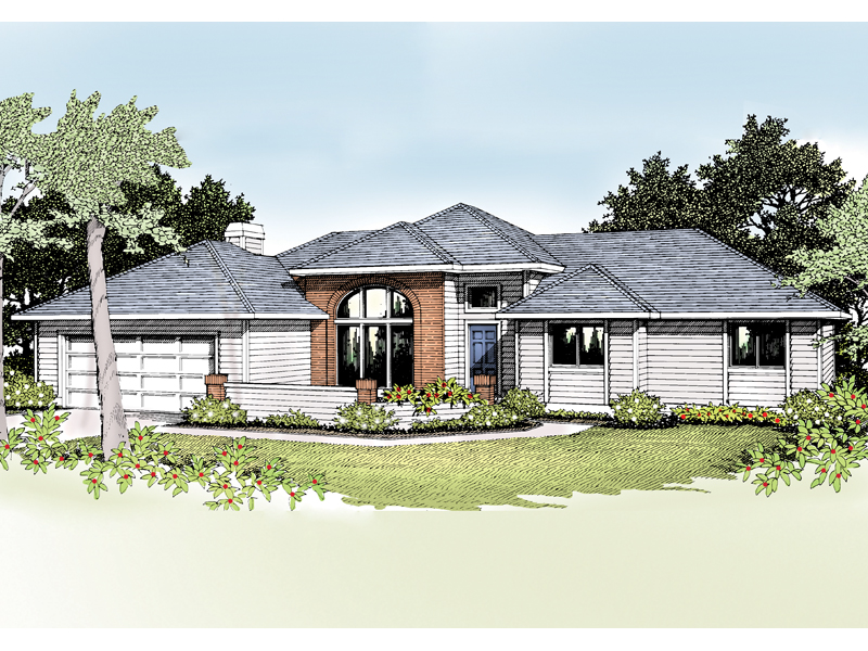 Quincy modern ranch home plan 014d 0006 house plans and more for Modern ranch house plans