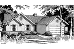 Traditional House Plan Front Image of House - 014D-0007 | House Plans and More