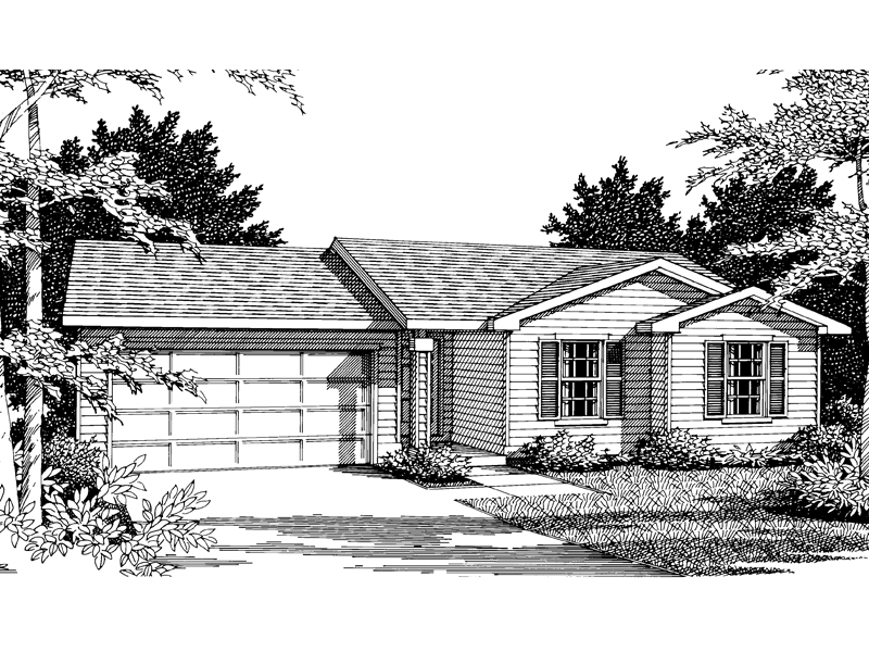 Traditional House Plan Front Image of House - 014D-0008 | House Plans and More