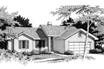 Ranch House Plan Front Image of House - 014D-0009 | House Plans and More