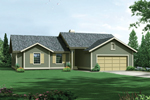 Traditional Ranch Home With Front Loading Garage