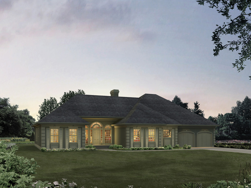 Elegant Entrance To An Impressive Home