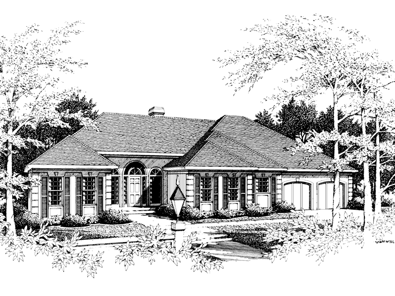 Southern House Plan Front Image of House - 014D-0010 | House Plans and More