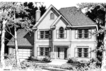 Georgian House Plan Front Image of House - 014D-0011 | House Plans and More