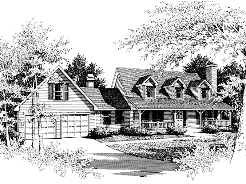 Country House Plan Front Image of House - 014D-0012 | House Plans and More