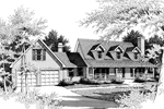 Traditional House Plan Front Image of House - 014D-0012 | House Plans and More