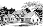 European House Plan Front Image of House - 014D-0013 | House Plans and More