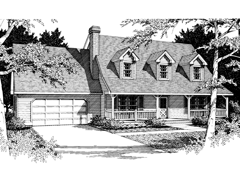 Southern House Plan Front Image of House - 014D-0014 | House Plans and More