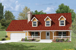 Classic Country Home With Covered Front Porch And A Trio Of Dormers