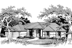 Ranch House Plan Front Image of House - 014D-0015 | House Plans and More