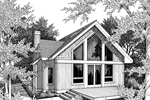 A-Frame Home Plan Front Image of House - 014D-0016 | House Plans and More