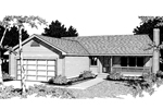 Ranch House Plan Front Image of House - 015D-0006 | House Plans and More