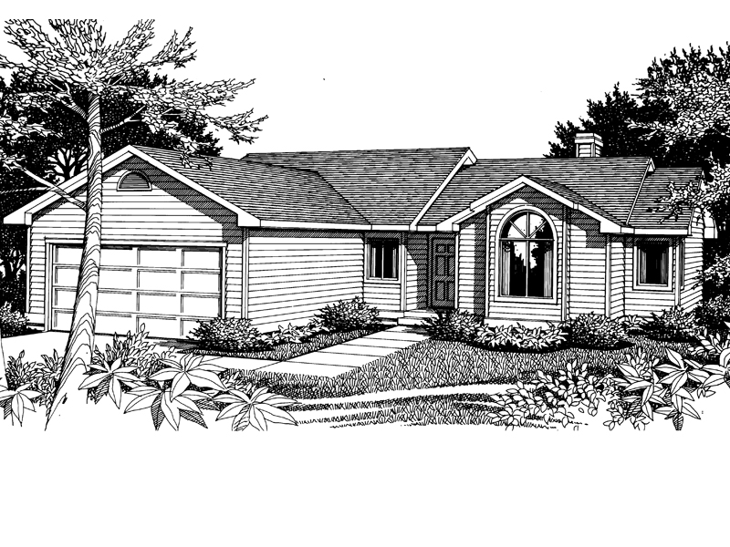Traditional House Plan Front Image of House - 015D-0007 | House Plans and More
