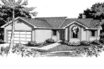 Ranch House Plan Front Image of House - 015D-0007 | House Plans and More