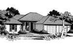 Florida House Plan Front Image of House - 015D-0008 | House Plans and More