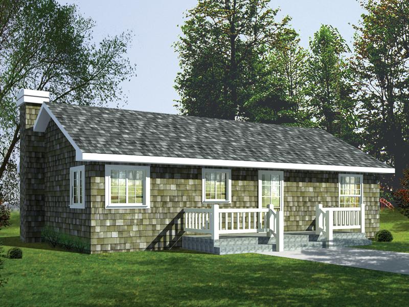 Cedar Shake Covered Rustic Retreat Home